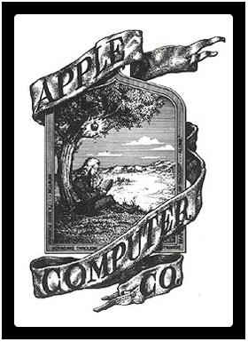 アップル社初期のロゴ