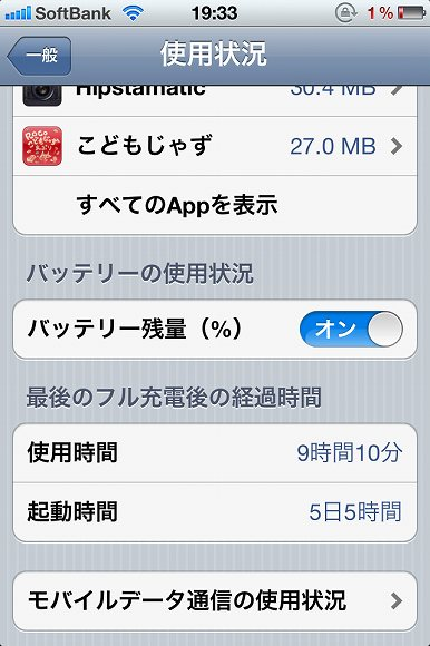 iPhone 4Sバッテリー